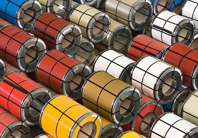 Оцинкована рулонна сталь з полімерним покриттям